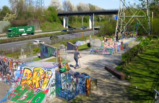 Tussen Olgapark en Neue Mitte Oberhausen